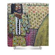 Man In A Golden Suit Shower Curtain