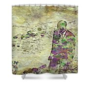 Man In A Suit By Mary Bassett Shower Curtain