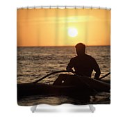 Man In Canoe Shower Curtain