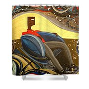 Man In Chair 2 Shower Curtain