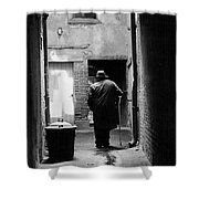 Man In Paris Alley Shower Curtain