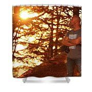 Man In The Forest Shower Curtain