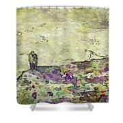 Man In The Lansdscape By Mary Bassett Shower Curtain