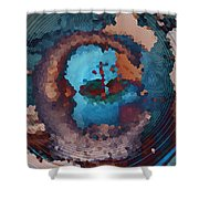 Man In The Moon Daydream Shower Curtain
