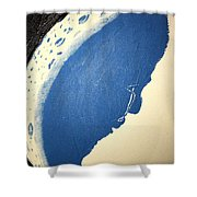 Man In The Moon Weeps Shower Curtain