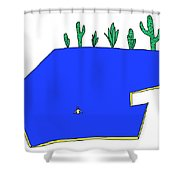 Man In Water Shower Curtain