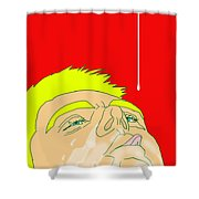 Man Milk Shower Curtain
