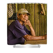 Man Of The House Shower Curtain by Allen Sheffield