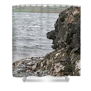 Man Of The Stone Shower Curtain