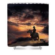 Man On Horseback Shower Curtain