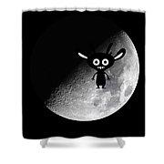 Man On Moon Shower Curtain
