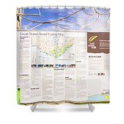 Man Sightseeing The Great Ocean Road Shower Curtain