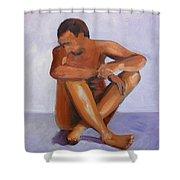 Man Study Shower Curtain
