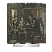 Man Winding Yarn Nuenen, May - June 1884 Vincent Van Gogh 1853  1890 Shower Curtain