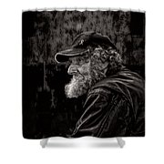 Man With A Beard Shower Curtain by Bob Orsillo