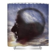 Man With Alzheimers Disease Shower Curtain