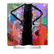 Man With Arms Akimbo Shower Curtain
