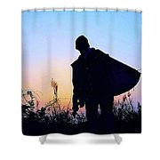 Man With Bag Shower Curtain