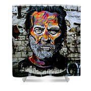 Man With Colourful Face Shower Curtain