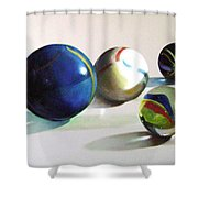 Man With Glass Balls  Shower Curtain