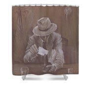 Man With Heat Shower Curtain