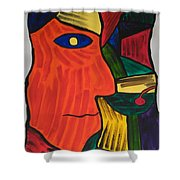 Man With Martini Glass Shower Curtain