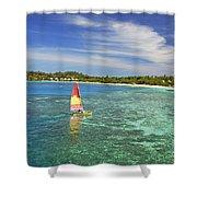 Mana Island Lagoon Shower Curtain