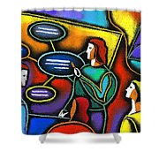Manager  Shower Curtain by Leon Zernitsky