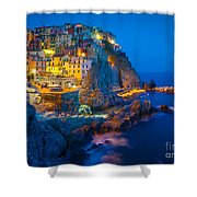 Manarola By Night Shower Curtain
