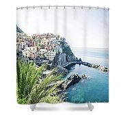 Manarola Cinque Terre Italy Shower Curtain