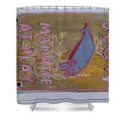Manatee At Play Shower Curtain