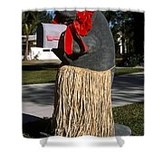 Manatee Mailbox Shower Curtain
