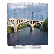 Manayunk Rail Road Bridge Shower Curtain