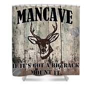 Mancave Deer Rack Shower Curtain