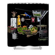 Mancave Shower Curtain
