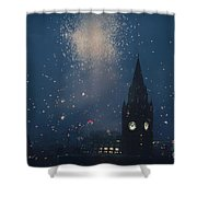 Manchester At Night Shower Curtain
