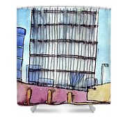 Manchester Embankment 1 Shower Curtain