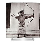 Manchu Archer, 1874 Shower Curtain