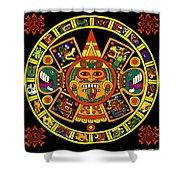 Mandala Azteca Shower Curtain by Roberto Valdes Sanchez