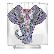 Mandala Elephant Indigo Shower Curtain