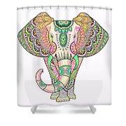 Mandala Elephant Psicodelic Shower Curtain