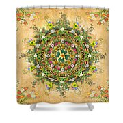 Mandala Flora Shower Curtain