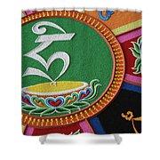 Mandala Hrih Shower Curtain