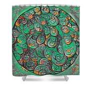 Mandala In Green Shower Curtain