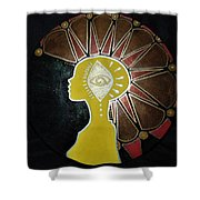 Mandala Mohawk  Shower Curtain