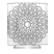 Mandala No 2 Shower Curtain