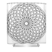 Mandala No 3 Shower Curtain