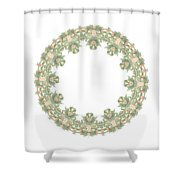 Mandala/photoart Orange Flowers-2 Shower Curtain