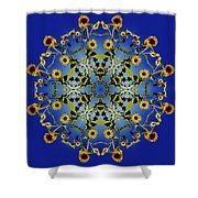 Mandala Sunflower Shower Curtain