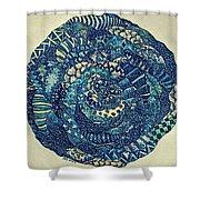 Mandala Tangled Digital Shower Curtain